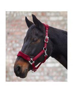 Waldhausen Halster Soft Fleece Gevoerd Rood - Paardenhalster