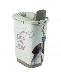 Rotho Mypet Voeder Strooicontainer Grijs&Cappuccino - Hondenvoerbewaarbak