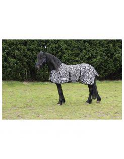 Waldhausen Vliegendeken Zebra Zwart&Wit - Paardendekens