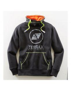 Terrax Sweatshirt Met Hoge Kraag Zwart&Lime - Werkkleding