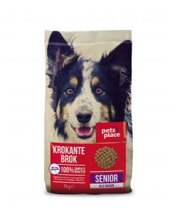 Pets Place Senior Krokante Brokken Gevogelte&Vlees - Hondenvoer