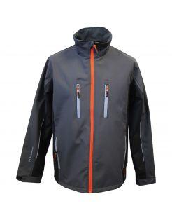 Terra Trend Job Softshell Jas Donkergrijs&Zwart - Werkkleding