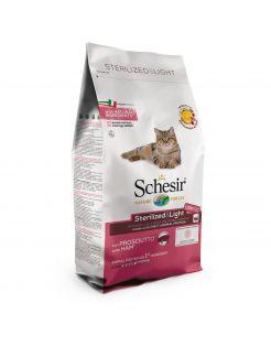 Schesir Cat Dry Sterilized & Light Ham - Kattenvoer