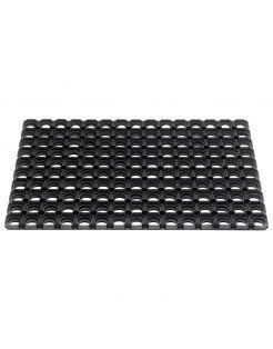 Hamat Rubbermat Ring Domino Zwart - Deurmat