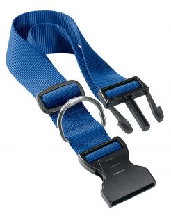 Adori Klikhalsband Nylon Blauw - Hondenhalsband