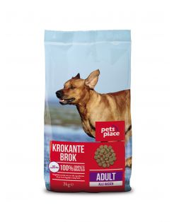 Pets Place Adult Krokante Brokken Gevogelte&Vlees - Hondenvoer
