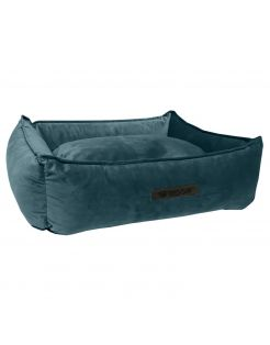 Wooff Mand Cocoon Velours Petrol - Hondenmand