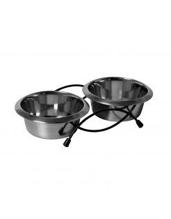 Adori Standaard Met 2 Rvs Bakken - Hondenvoerbak