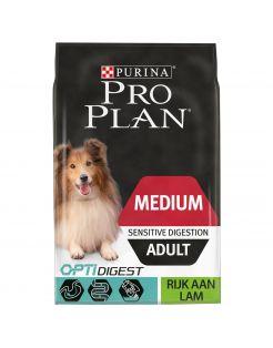 Pro Plan Dog Adult Medium Sensitive Digestion Lam - Hondenvoer