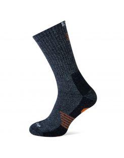 Stapp Sok Bamboo Donkergrijs&Oranje - Sokken
