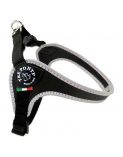 Tre Ponti Fibbia Basic Tuig Zwart&Reflecterend - Hondenharnas