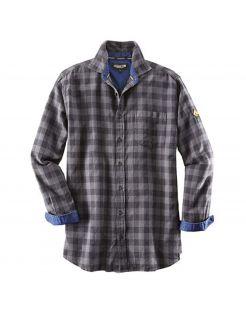 Terra Trend Job Overhemd Zwart&Donkergrijs - Werkkleding