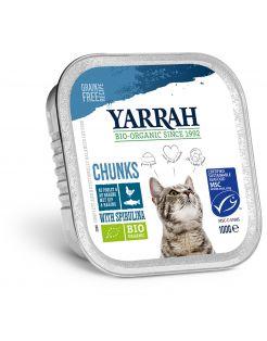Yarrah Bio Kat Alu Brokjes In Saus - Kattenvoer