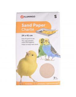 Flamingo Zandpapier 7 stuks - Vogelbodembedekking