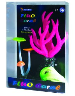 Superfish Fluo Coral 21x14x6.5 cm - Aquarium - Ornament