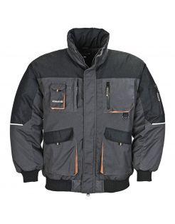 Terratrend Pilotjack Grijs&Zwart&Oranje - Werkkleding