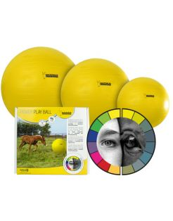 Maximus Maximus Power Play Ball Geel - Paardenspeelgoed