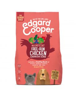 Edgard&Cooper Free-Run Chicken Senior Kip&Zalm&Broccoli - Hondenvoer