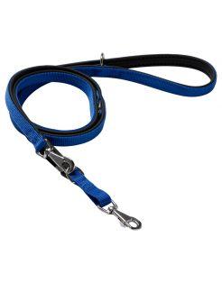 Adori Traininglijn Nylon Soft Blauw&Zwart - Hondenriem
