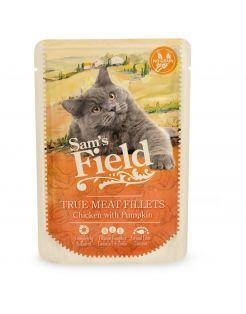 Sam's Field Cat Pouch True Meat Filets 85 g - Kattenvoer