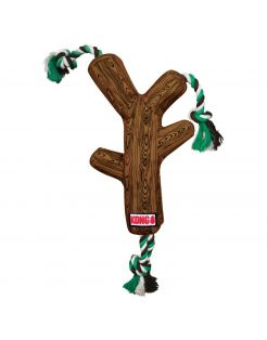 Kong Fetchstix Bruin&Groen&Wit - Hondenspeelgoed