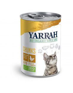 Yarrah Bio Kat Blik Chunks 405 g - Kattenvoer