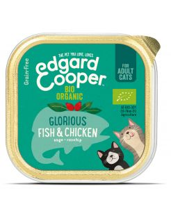 Edgard&Cooper Kuipje Adult Biologisch 85 g - Kattenvoer