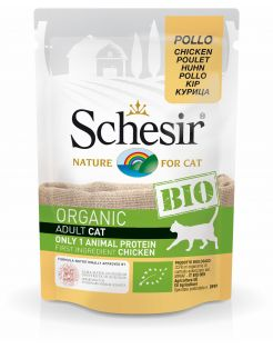 Schesir Kat Bio Maaltijdzakjes Paté 85 g - Kattenvoer