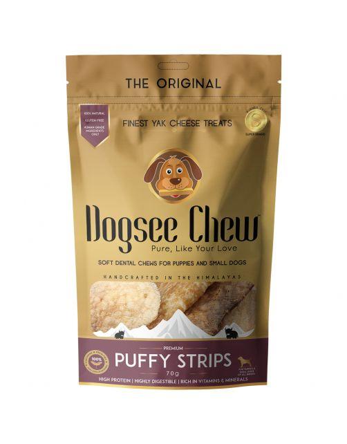 Dogsee Chew Puffy Strips - Hondensnacks - Kaas 70 g