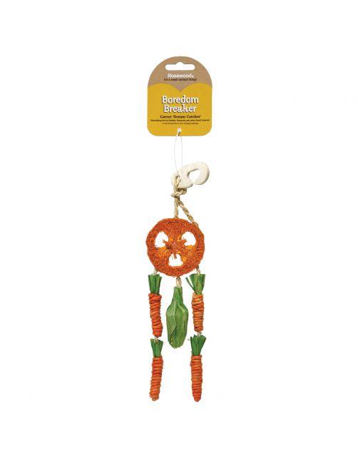 Rosewood Naturals Carrot Dream Catcher - Knaagdiersnack - 9x3x35 cm