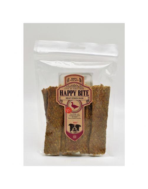 Happy Bite Strips - Hondensnacks - Eend 100 g