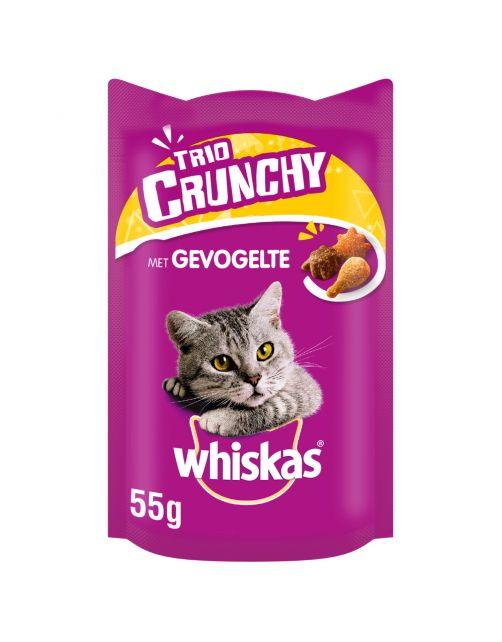 Whiskas Trio Crunchy - Kattensnack - Gevogelte 55 g
