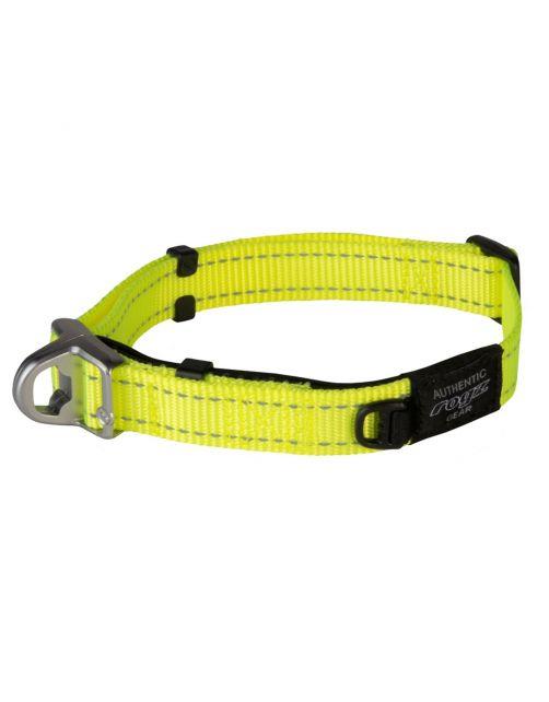 Rogz Lumberjack Safety Halsband - Hondenhalsband - 33-48x2 cm Geel L