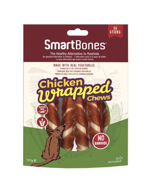 Smartbones Wrapped Sticks - Hondensnacks - Kip 5 stuks