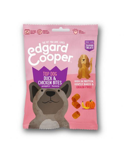 Edgard&Cooper Duck & Chicken Bites - Hondensnacks - Eend Kip Pompoen 50 g