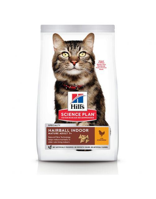 Hill's Feline Senior Hairball Control - Kattenvoer - Kip 1.5 kg