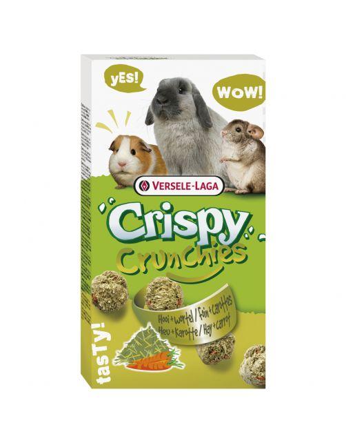 Versele-Laga Crispy Crunchies Hooi - Knaagdiersnack - Natuur 75 g