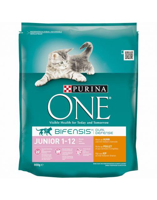Purina One Junior - Kattenvoer - Kip Granen 800 g