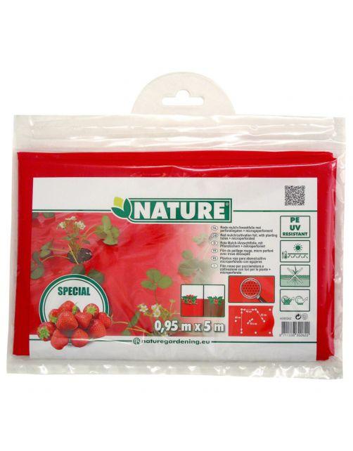 Nature Kweekfolie Aardbei - Groeifolie Gronddoek - 0.95x5 m Anti-Uv
