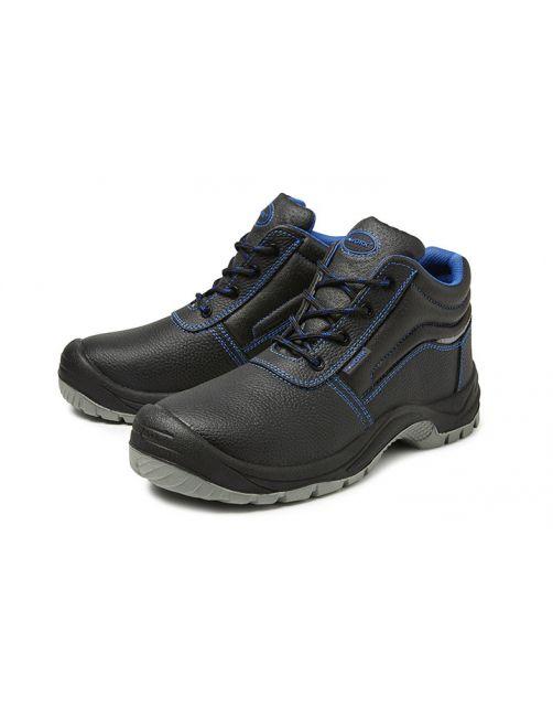 4work 4w16 Veiligheidsschoen S3 - Werkschoenen - Zwart Blauw Grijs Hoog 43