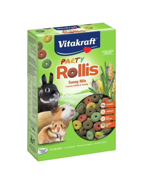 Vitakraft Rollis Party - Knaagdiersnack - 500 g