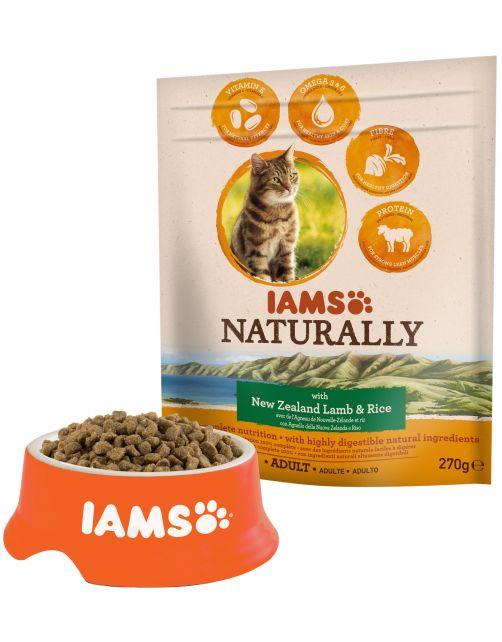 Iams Naturally Cat Adult Lam&Rijst - Kattenvoer