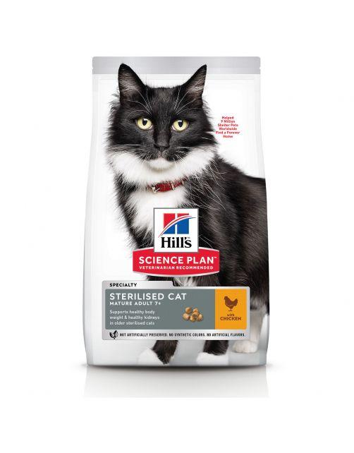 Hill's Feline Sterilised Cat Mature Adult Kip - Kattenvoer