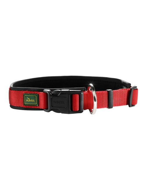 Hunter Klikhalsband Vario Plus Rood&Zwart - Hondenhalsband