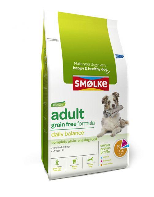 Smolke Adult Grain Free Formula Kip&Lam&Vis - Hondenvoer