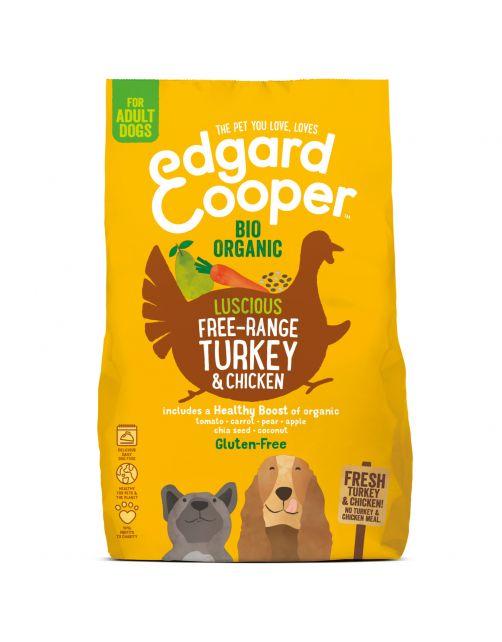Edgard&Cooper Bio Organic Turkey Adult Kalkoen&Kip&Wortel - Hondenvoer