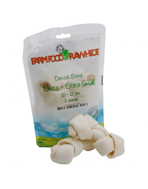 Farm Food Rawhide Dental Bone Rund - Hondensnacks