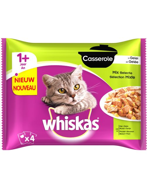 Whiskas Casserole Adult Mix&Gelei - Kattenvoer