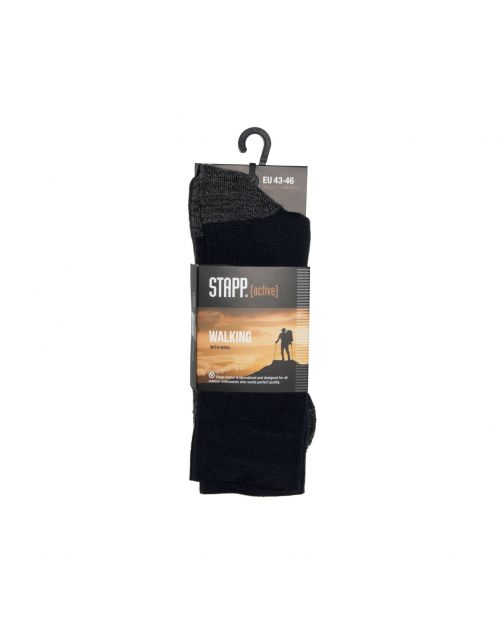 Stapp Unisex Walking Sok Zwart - Sokken