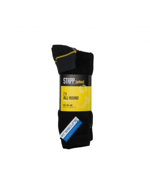 Stapp Yellow Herensok Allround Zwart - Sokken